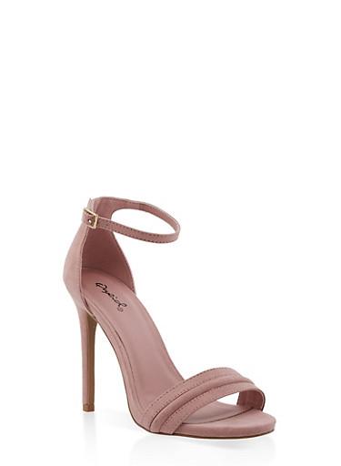 Single Band High Heel Sandals | 3111029912324,BLUSH,large