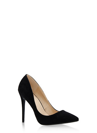 Pointed Toe High Heel Pumps,BLACK,large