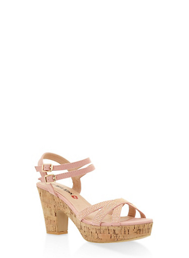 Studded Cork Platform Sandals | Tuggl