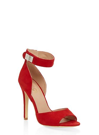 Peep Toe High Heel Sandals - RED - 3111073541004