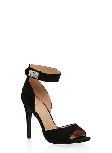Peep Toe High Heel Sandals | Tuggl