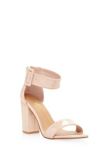 Ankle Strap Block Heel Sandals | Tuggl
