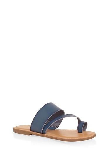 Toe Ring Strap Slide Sandals | Tuggl