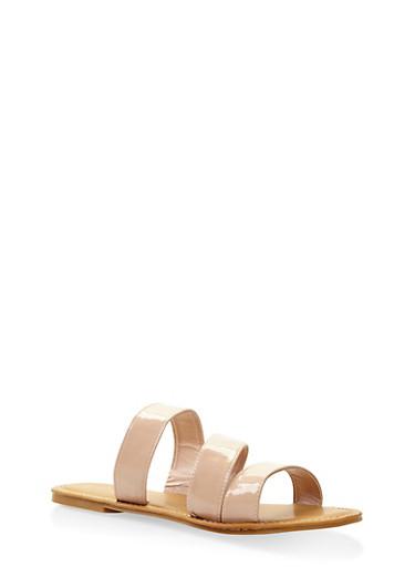 Triple Band Slide Sandals | Tuggl
