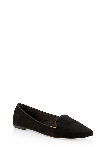 Pointed Toe Flats | 3112004062565,BLACK SUEDE,large