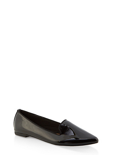 Pointed Toe Flats | 3112004062565,BLACK PATENT,large