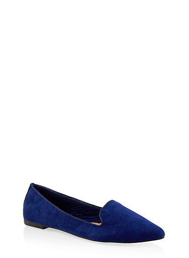 Pointed Toe Flats | 3112004062565,NAVY S,large
