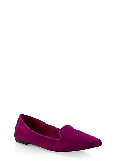 Pointed Toe Flats | 3112004062565,PURPLE S,large