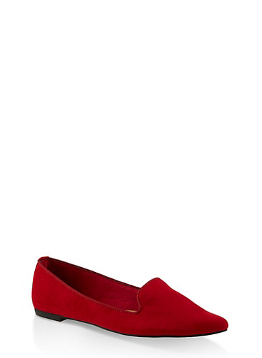 Pointed Toe Flats   3112004062565,RED S,large
