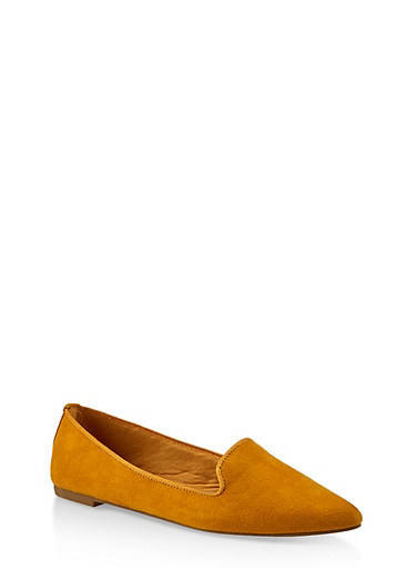 Pointed Toe Flats | 3112004062565,YELLOW S,large