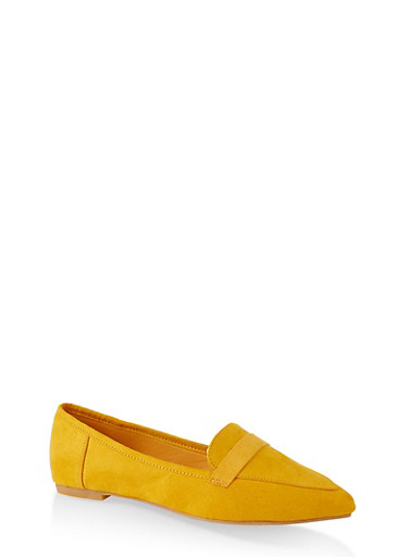 Pointed Toe Flats | 3112004062566,YELLOW S,large