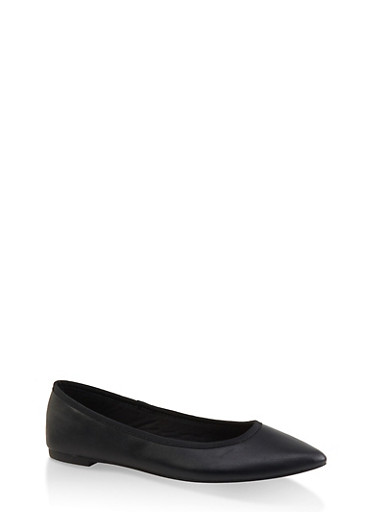 Pointed Toe Flats | 3112004062567,BLACK,large