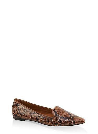 Pointed Toe Flats | 3112004062569,BROWN,large