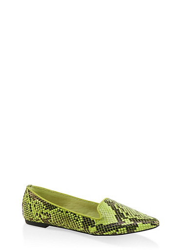 Pointed Toe Flats | 3112004062569,YELLOW,large
