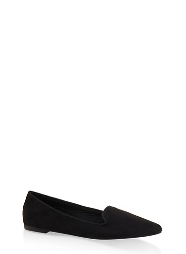 Pointed Toe Flats | 3112004062569,BLACK SUEDE,large