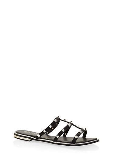 Studded Slide Sandals at Rainbow Shops in Columbia, TN | Tuggl