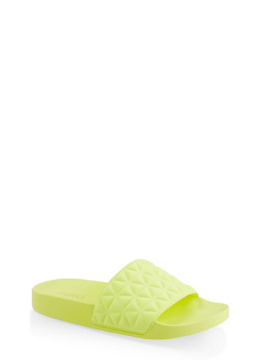 Quilted Scuba Knit Pool Slides by Rainbow