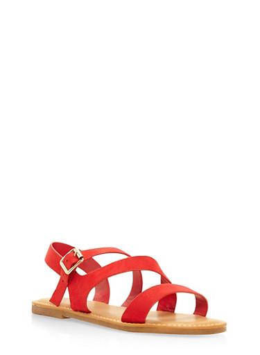Asymmetrical Strap Sandals | Tuggl