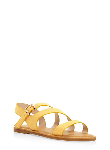 Asymmetrical Strap Sandals at Rainbow Shops in Columbia, TN | Tuggl