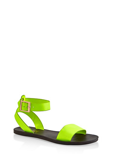 One Band Ankle Strap Sandals by Rainbow