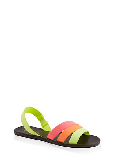 Triple Band Slingback Sandals by Rainbow