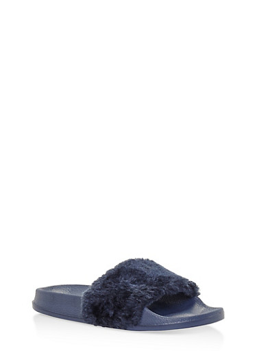 Faux Fur Slides | Tuggl