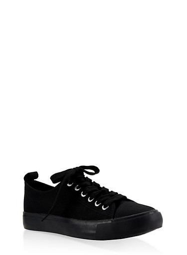 Lace Up Sneakers | 3112062720303,BLACK,large