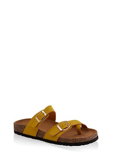 Toe Loop Flatbed Slide Sandals by Rainbow