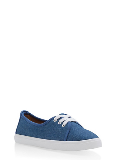 Lace Up Canvas Skimmer Sneakers | Tuggl