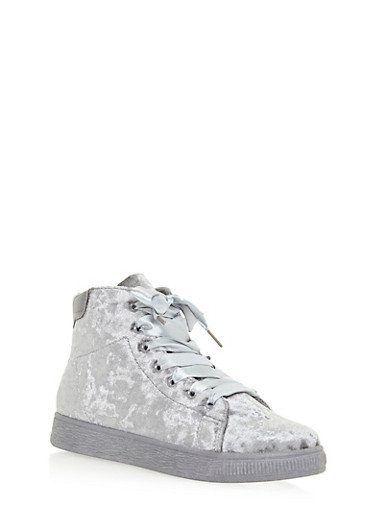 High Top Lace Up Sneakers,GRAY VLT,large