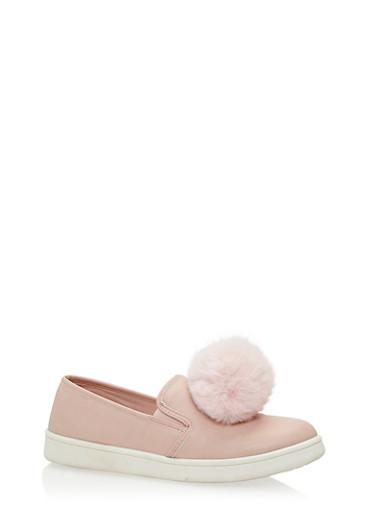 Pom Pom Slip On Sneakers,BLUSH CRP,large