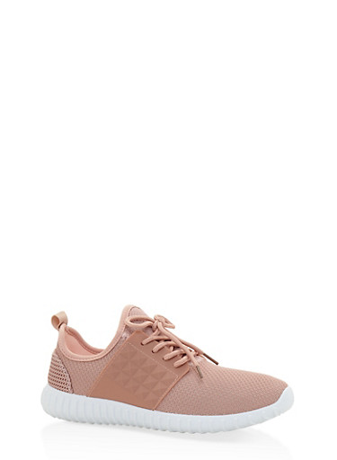 Knit Lace Up Sneakers | Tuggl