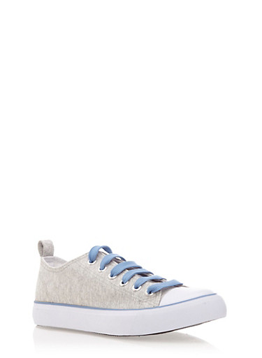 Low Top Sneakers with Rubber Sole,JERSEY GRAY/BLUE/BLUE/WHT,large