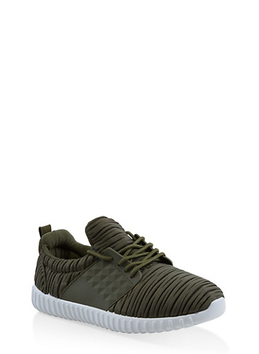 Burnout Athletic Sneakers,OLIVE,large