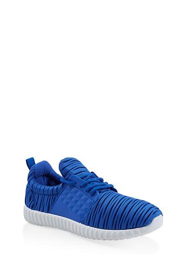 Burnout Athletic Sneakers,BLUE,large
