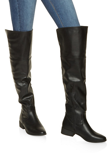 Over the Knee Boots,BLACK,large