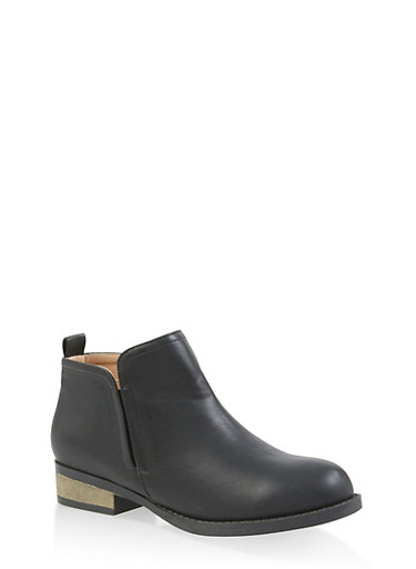 Side Gore Booties,BLACK,large
