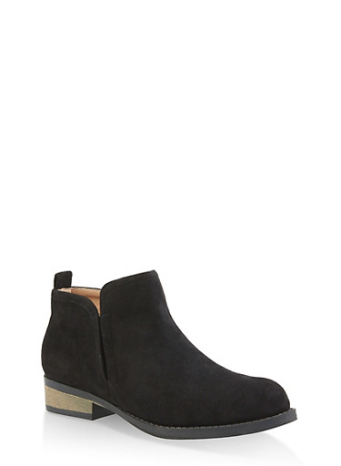 Side Gore Booties,BLACK SUEDE,large
