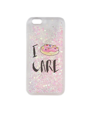 Donut Graphic Clear iPhone 6 Case,PINK,large