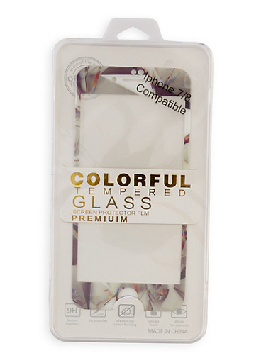 Colorful Tempered Glass Screen Protector Film | White,WHITE,large