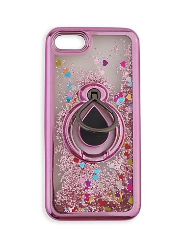 Glitter Waterfall iPhone Case,ROSE,large