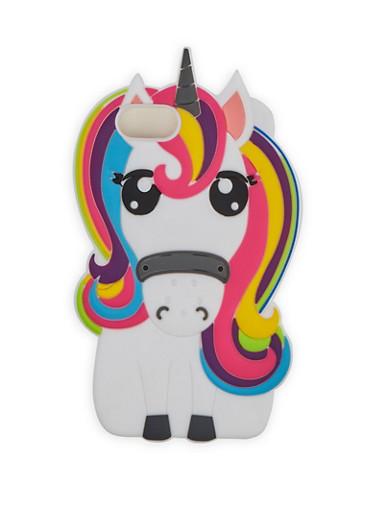 Silicone Unicorn Phone Case,WHITE,large