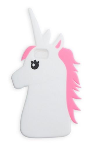 Unicorn iPhone Case,WHITE,large