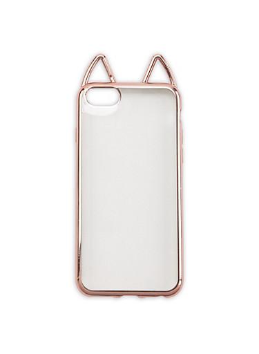 Cat Ear iPhone Case,ROSE,large