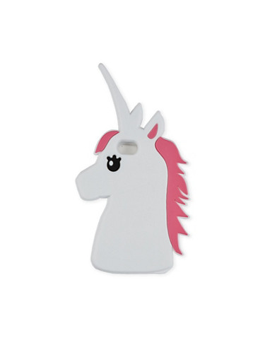 Unicorn Silicone iPhone Case,WHITE,large