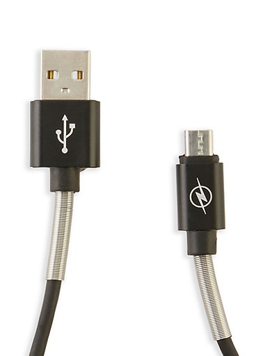 Micro USB Charging Cable,BLACK,large