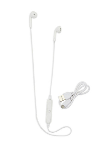 Athletic Wireless Earbuds,WHITE,large