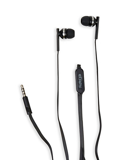 Microphone Earbuds,BLACK,large