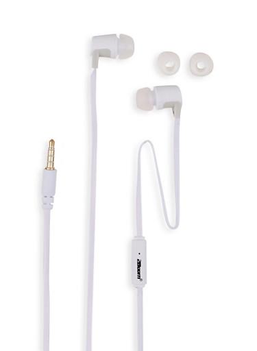 Stereo Earphones,WHITE,large