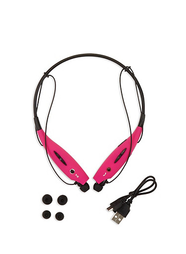 Wireless Behind the Neck Headset,PINK,large
